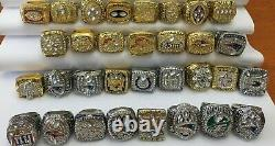 53pcs 1966 Packers To 2019 Patriots American Football Team Ring Ensemble Fan Homme Cadeau
