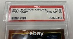 Bowman Chrome Tom Brady 236 Recrue 2000 Psa 10