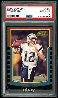 Carte Des Recrues Tom Brady 2000 Bowman #236 Psa 8