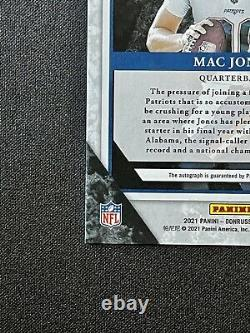 Mac Jones 2021 Donruss Elite Série Carte Parallel Auto /99 Sp Rc- Patriots