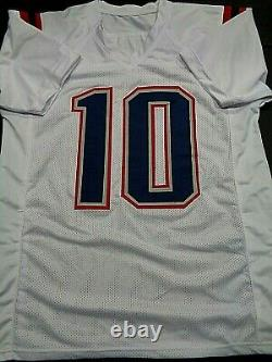 Mac Jones New England Patriots Autographié White Jersey W-coa Jsa