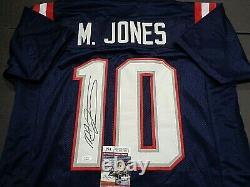 Mac Jones New England Patriots Autographied Custom Blue Jersey W-coa Jsa