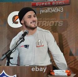 New England Patriots Super Bowl 51 LI Nike Hommes Media Pregame Long Sleeve Shirt
