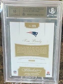 Panini Flawless Silver Signatures 2016 Tom Brady On-card Auto #/5 Bgs 9.5/10