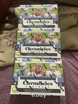 Panini NFL Chronicles 2020 Football Mega Box Scellé Dans La Main Cible Edition 3 Lot