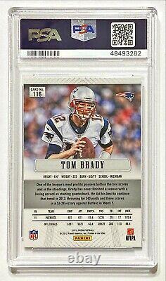 Panini Prizm Tom Brady 2012 #116 Psa 10 Gem Mint! Qty Disponible
