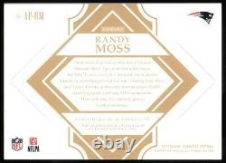 Randy Moss 2018 Flawless Football Auto 1/3