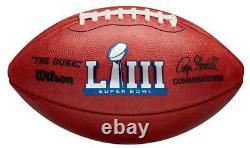 Super Bowl 53 LIII Officiel De Football Patriotes En Cuir Rams Date Gravé Sur Balle