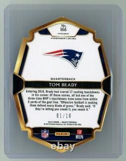 Tom Brady 1/10 Ssp 2018 Panini Select Gold Prizm Die-cut #166 Patriots