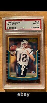 Tom Brady 2000 Bowman #236 Rc New England Patriots Psa 10 Mintage