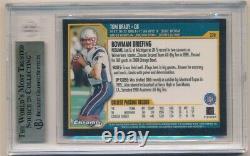 Tom Brady 2000 Bowman Chrome #236 Rc Rookie Card Patriots Sp Bgs 9.5 Menthe Gemme