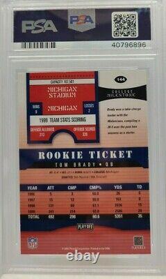 Tom Brady 2000 Contendeurs De Jeux Rookie Rc Psa/adn 9 Auto #144 Psa Authentic