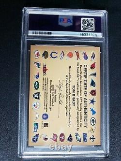 Tom Brady 2000 Fleer Autographics Rookie Auto Psa 7 Classed Authentic Auto