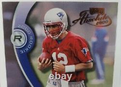 Tom Brady 2000 Playoff Absolute #195 Rookie Rc #834/3000 Patriots Bucs Look
