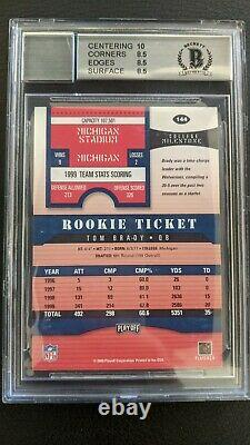 Tom Brady 2000 Playoff Contenders #144 Bgs 8.5 Rookie Card Rc Pristine Auto Bas