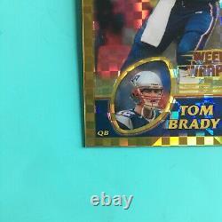 Tom Brady 2003 Topps Chrome Gold Xfractor Refractor Weekly Wrap Up #148 (33/101)