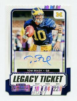 Tom Brady 2021 Panini Contenders Projet De Billet Legacy Auto Autograph Card Sp 4/10