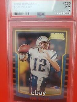 Tom Brady Bleu Carte Bowman