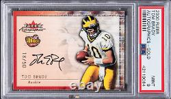 Tom Brady Fleer Autographics Gold 2000 Psa 9-rarer Que Playoff Contender Ticket