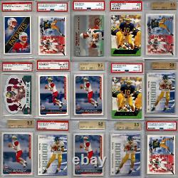 Tom Brady Graded Rookie 55 Card Lot 2000 Rc Bgs & Psa 9 9.5 10 Auto Signé Goat