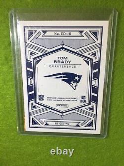 Tom Brady Jersey #12 Refractor Card Patriots Prizm 2019 Donruss Elite Deck #ed18