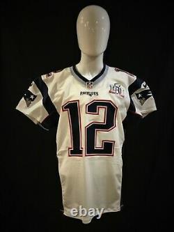 Tom Brady New England Patriots Jeu Numéro Super Bowl 51 Autographié Jersey