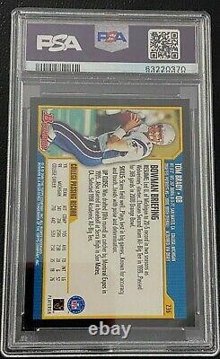 Tom Brady Rookie Card 2000 Bowman Psa 8 #236 Buccaneers Patriots NFL Légende Chèvre