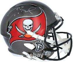 Tom Brady Tampa Bay Buccaneers Autographié Riddell Speed Replica Casque