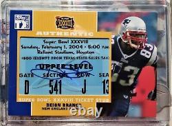 Topps Tom Brady Deion Branche Super Bowl Ticket Auto #8/10 & Patriots Team Autos