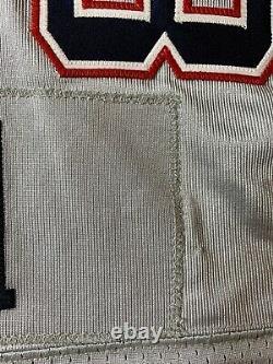 Troy Brown Jeu Usagé Worn New England Patriots NFL Silver 2006 Jersey Coa