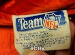 Vtg Jeff Hamilton Édition Premiere Cuir Tous Les Patches De L'équipe NFL Taille De Veste XXL