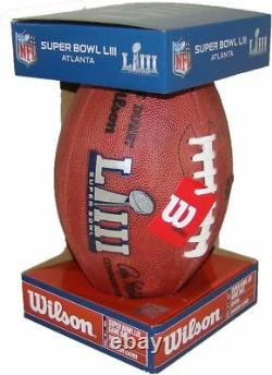 Wilson Official Super Bowl 53 LIII Leather Game Fullsize Football Patriots Rams
